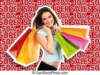 買い物, 女