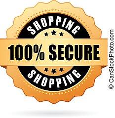 買い物, 安全である, アイコン