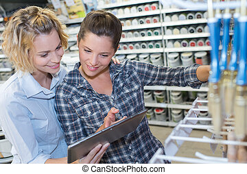 買い物, 恋人, 若い, ハードウェア, diy, 道具, レズビアン, 店
