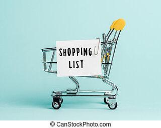 買い物, 概念, リスト
