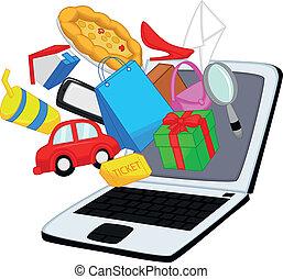 買い物, 漫画, オンラインで
