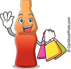 買い物, 特徴, ゼリー, キャンデー, びん, 漫画, コーラ