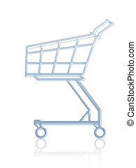 買い物, cart., 空