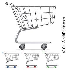 買い物, cart.