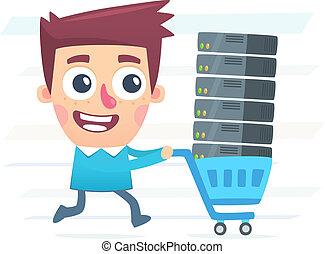 買い物, hosting