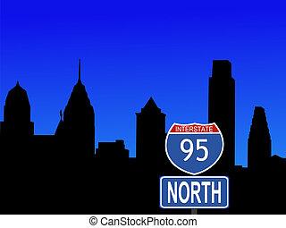 費城, 由于, 跨境標誌