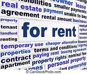 賃貸料のために, ビジネス, 言葉, 概念