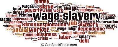 賃金, 奴隷制度, 雲, 単語