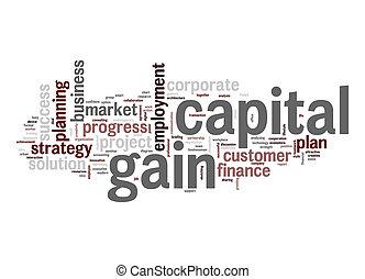 資本, 利益, 単語, 雲