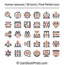 資源, 人間, アイコン