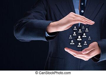 資源, 人間, 顧客の心配