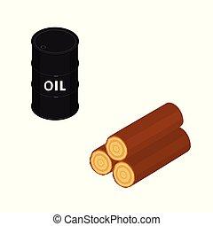資源, 木, オイル, 自然
