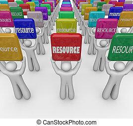 資源, 詞, 瓦片, 人們, 舉起, 知識, 技能, 專門技能, 街