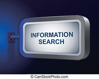 資訊, 搜尋, 詞, 上, 廣告欄