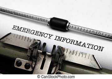 資訊, 緊急事件
