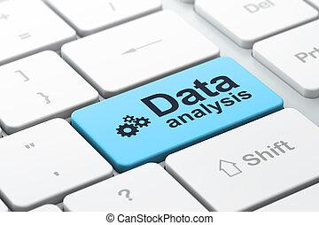 資訊, concept:, 計算机鍵盤, 由于, 齒輪, 圖象, 以及, 詞, 數据, 分析, 選擇, 集中, 上, 進入, 按鈕, 3d, render