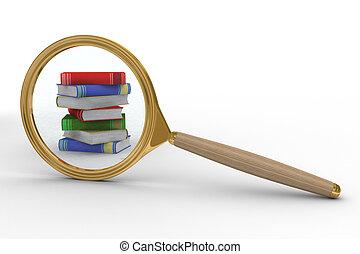 資訊, search., 被隔离, 3d, 圖像