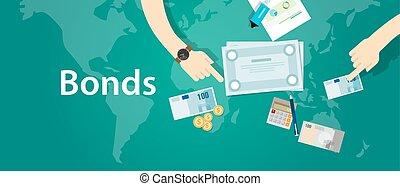 資金, 会社, 企業である, 融資, 債券