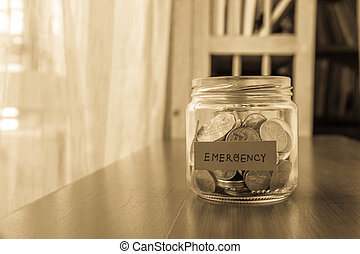 資金, 節約, 緊急事態