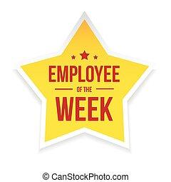 賞, 従業員, 最も良く, 週, バッジ