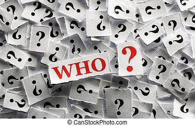 質問, だれか