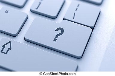 質問, ボタン