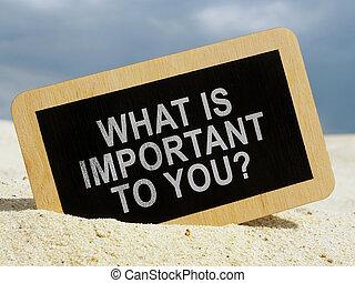 質問, 何か, タブレット, あなた, desert., 重要