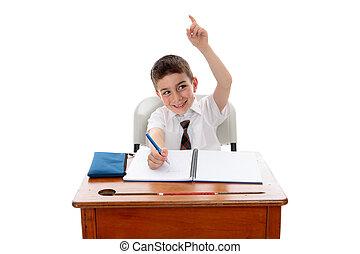質問, 男の子, 学校, ∥あるいは∥, 答え
