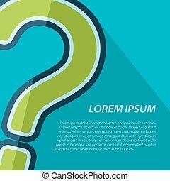 質問, icon., ベクトル, eps10, 印