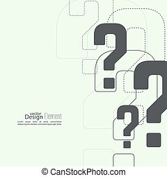 質問, icon., 印