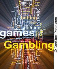 賭博, 打賭, 概念, 發光, 背景