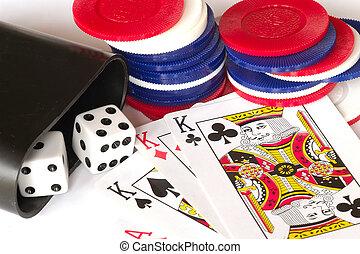 賭博, 材料
