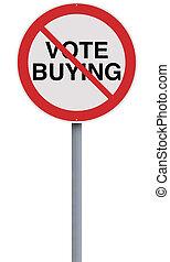 購入, いいえ, 投票
