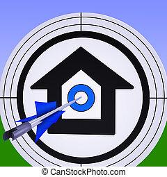 購入, ターゲット, 成功, 家, 特性, ショー, 抵当