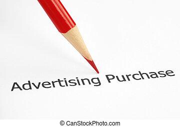 購入, 広告