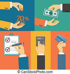 購入, 支払い, クレジット