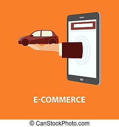 購入, 概念, 使用料, 自動車