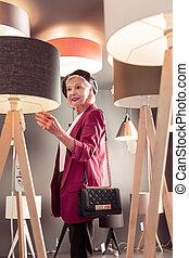 購入, 空想, 優雅である, ランプ, 身につけられた, 作成, シニア, 貴婦人