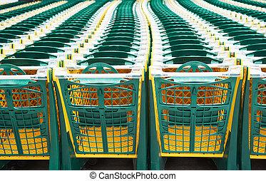 購物車, 在, 超級市場