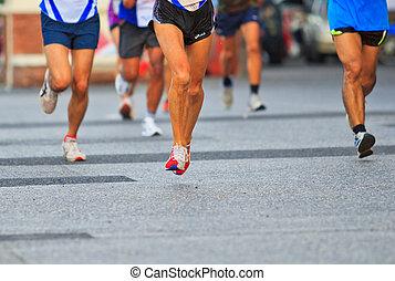 賽跑的人, 跑, 馬拉松