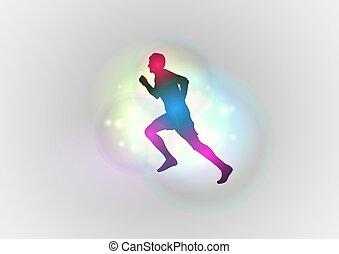 賽跑的人, 黑色半面畫像