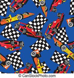 賽車, seamless, pattern.
