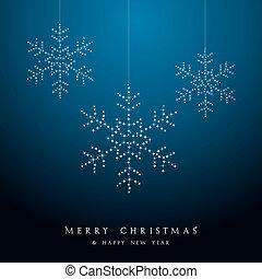 贅沢, クリスマス, 掛かること, 雪片, 安っぽい飾り, ベクトル, file.