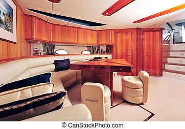 贅沢, ヨット, 内部