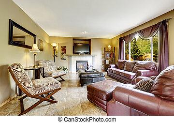 贅沢, 反響室, ∥で∥, 革, 家具, セット