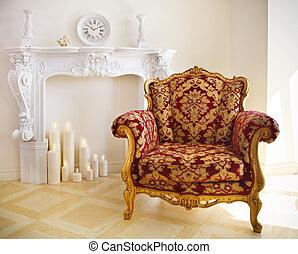 贅沢, 型, 肘掛け椅子