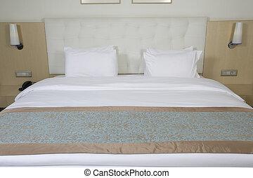 贅沢, 王, ベッド, サイズを定められた, 部屋, ホテル