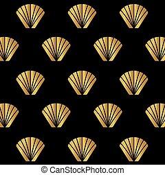 贅沢, 金, 抽象的, ベクトル, pattern-, イラスト