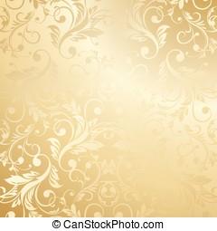 贅沢, 金, 花, 壁紙