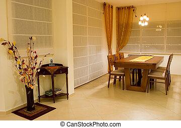 贅沢, desing, 夕食, 部屋